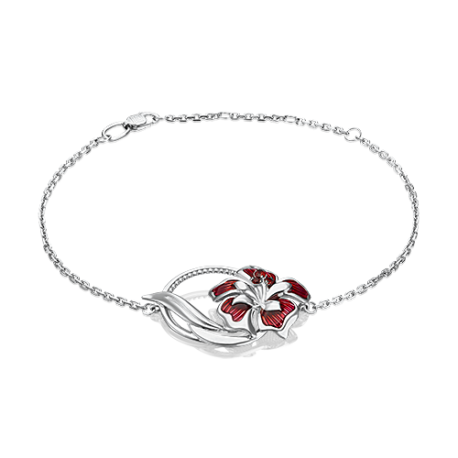 Браслет из серебра с эмалью и гранатом - PLATINA