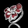 Кольцо из серебра с эмалью и гранатом - PLATINA