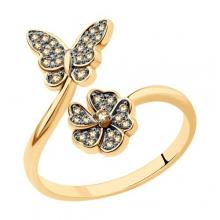 1012212 - Кольцо из золота с бриллиантами SOKOLOV