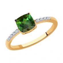 6014204 - Кольцо из золота с турмалином и  бриллиантами - SOKOLOV