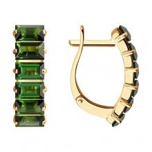 6024270 - Серьги из золота с зеленым турмалином - SOKOLOV