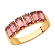 6014205 - Кольцо из золота с турмалином и  бриллиантами - SOKOLOV