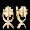 Серьги из золота с бриллиантом - PLATINA