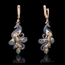 Серьги из золота с эмалью - PLATINA Jewelry