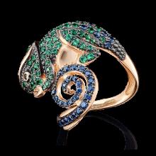 """Кольцо """"Хамелеон"""" из золота арт. 01-4857-00-404-1110-52, Платина"""