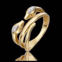 Кольцо из желтого золота с бриллиантом - PLATINA