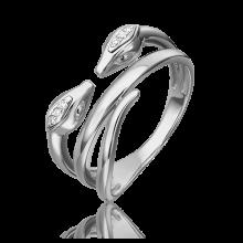 Кольцо из белого золота с бриллиантом - PLATINA