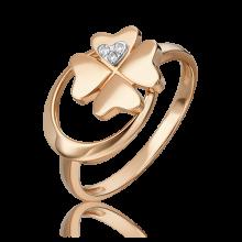 Кольцо из золота с бриллиантом - PLATINA Jewelry