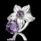 Кольцо из серебра с аметистом - ЮЗ Платина