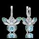 Серьги из серебра с эмалью и топазом - PLATINA