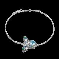 Браслет из серебра с эмалью и топазом - PLATINA