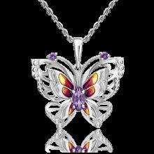 Подвеска из серебра с аметистом и эмалью - PLATINA Jewelry