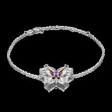 Браслет из серебра с аметистом и эмалью - PLATINA Jewelry