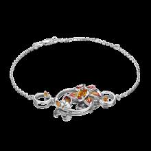 Браслет из серебра с цитрином и эмалью - PLATINA Jewelry