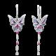 Серьги из серебра с гранатом и эмалью - PLATINA Jewelry