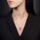Подвеска из серебра с гранатом и эмалью - PLATINA Jewelry