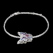 Браслет из серебра с гранатом и эмалью - PLATINA Jewelry