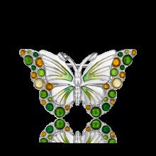 Брошь из серебра с эмалью - PLATINA Jewelry