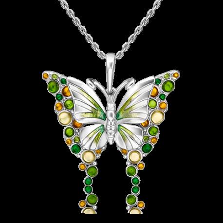 Подвеска из серебра с эмалью - PLATINA Jewelry