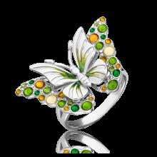 Кольцо из серебра с эмалью - PLATINA Jewelry