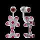Серьги из серебра с эмалью и родолитом - PLATINA