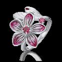 Кольцо из серебра с эмалью и родолитом - PLATINA