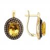 728054 - Серьги из золота с цитринами и фианитами SOKOLOV