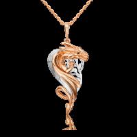 """Подвеска из золота с эмалью """"ДРАКОН"""" - PLATINA Jewelry"""