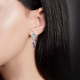 Серьги из золота с сапфиром и бриллиантами - PLATINA Jewelry