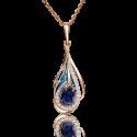 Подвеска из золота с сапфиром, бриллиантами и эмалью - PLATINA Jewelry