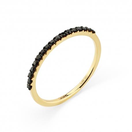1-106-519/1-48 Кольцо из золота с черными бриллиантами, МАСТЕР БРИЛЛИАНТ
