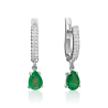 Серьги из золота с изумрудом и бриллиантами- PLATINA Jewelry