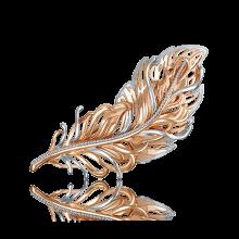 """Брошь """"Перо"""" из золота арт. 04-0193-00-000-1110-48, Платина"""