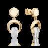 Серьги из золота с топазом white PLATINA Jewelry арт. 02-4920-01-201-1121