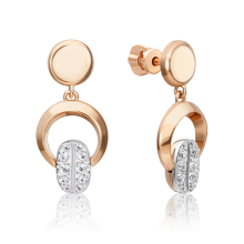 Серьги из золота с топазом white PLATINA Jewelry арт. 02-4920-01-201-1111