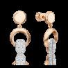 Серьги из золота с топазом white PLATINA Jewelry арт. 02-4920-00-201-1111