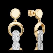 Серьги из золота с топазом white PLATINA Jewelry арт. 02-4920-00-201-1121