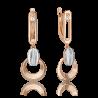 Серьги из золота с топазом white PLATINA Jewelry арт. 02-4921-01-201-1111