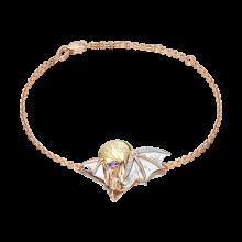 """Браслет из золота с аметистом PLATINA Jewelry """"Ночная магия"""" арт. 05-0713-00-225-1140"""