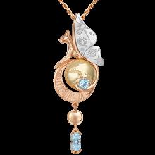 """Подвеска из золота с топазом PLATINA Jewelry """"Постижение тайн"""" арт. 03-3315-00-201-1140"""