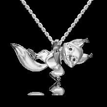 Подвеска из серебра с эмалью PLATINA Jewelry - Белочка