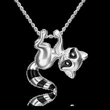 Подвеска из серебра с эмалью PLATINA Jewelry - Енотик
