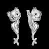 Серьги из серебра с эмалью PLATINA Jewelry - Кошечка