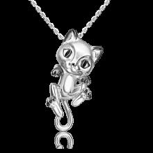Подвеска из серебра с эмалью PLATINA Jewelry - Кошечка