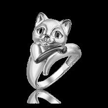Кольцо из серебра с эмалью PLATINA Jewelry - Кошечка