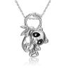 Подвеска из серебра с эмалью PLATINA Jewelry - Панда