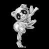 Брошь из серебра с эмалью PLATINA Jewelry - Панда