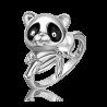 Кольцо из серебра с эмалью PLATINA Jewelry - Панда