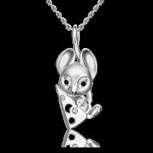 Подвеска из серебра с эмалью PLATINA Jewelry - Мышка