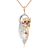"""Подвеска из золота с топазом PLATINA Jewelry """"Загадочность"""" арт. 03-3316-00-201-1111"""